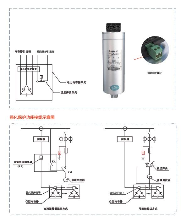 该结构电容器将输出一控制信号,切断投切开关,进入超温保护状态,禁止